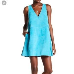 Free People Retro Love Suede Dress